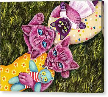 Canvas Print featuring the painting From Purple Cat Illustration 23 by Hiroko Sakai