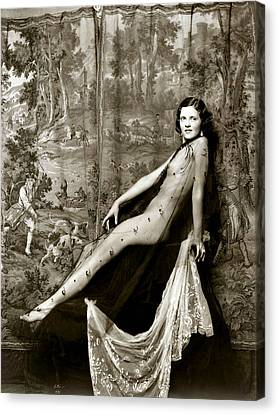 From Risque Postcard Collection 9 Canvas Print