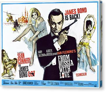 1963 Movies Canvas Print - From Russia With Love, British Poster by Everett