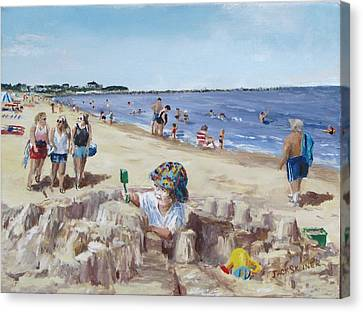 From Sandcastles To College Canvas Print by Jack Skinner