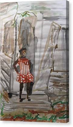 From Slavery To Penury Canvas Print by Esther Newman-Cohen