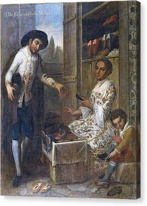 From Spanish And Indian Mestizo. 18th Canvas Print by Everett