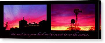From Sunset To Sunrise Canvas Print