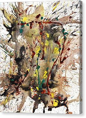 From The Chaotic Mess Series - 1260.112212 Canvas Print by Kris Haas