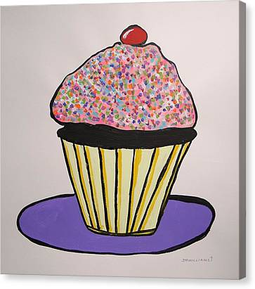 Canvas Print featuring the painting From The Cupcake Cafe by John Williams