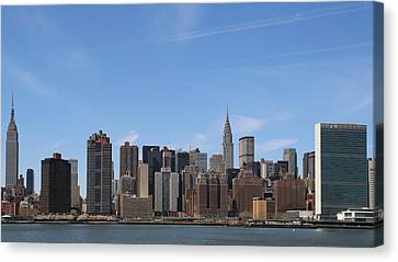 From The Empire State To The Un Canvas Print