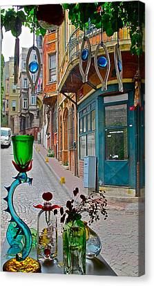 From The Glass-maker's Window Canvas Print by Ayse Taskiran