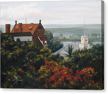 From The Holiday Inn - Key West Canvas Print by Lucie Bilodeau
