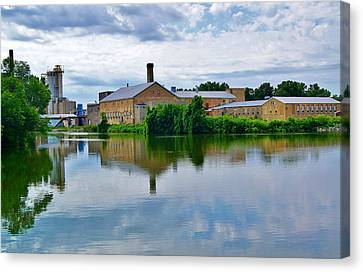 From The Menasha Park Lock On The Fox River Canvas Print