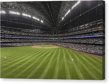 From The Outfield Canvas Print by CJ Schmit
