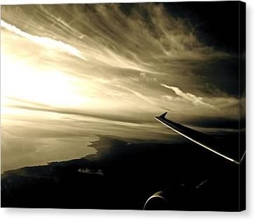 From The Plane Canvas Print by Gwyn Newcombe