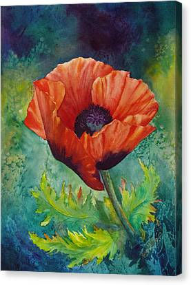 Canvas Print featuring the painting From The Poppy Patch by Karen Mattson