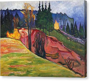 From Thuringewald Canvas Print by Edvard Munch