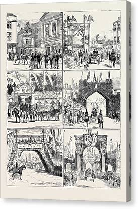 From Windsor To Claremont 1. The Bride And Bridegroom Canvas Print by English School