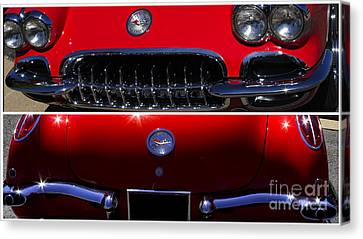 Red Chev Canvas Print - Front And Rear by Steven Parker
