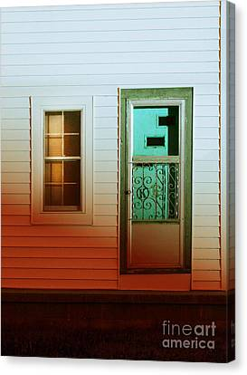 Front Door Of Old House Canvas Print by Jill Battaglia