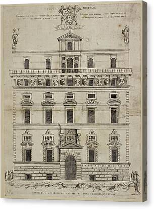 Front Elevation Of A Baroque Building In Canvas Print by British Library