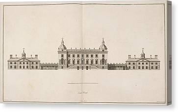 Front Elevation Of Houghton Hall Canvas Print by British Library