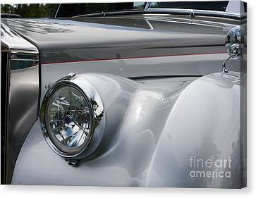 Canvas Print featuring the photograph Front Of A Rolls Royce by Gunter Nezhoda