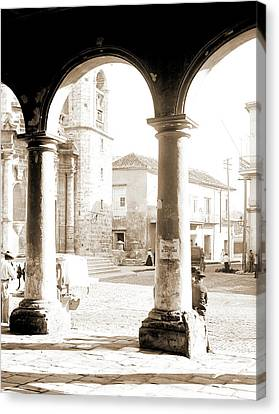 Front Of Cathedral, A Bit Of Old Havana, Cuba, Cathedrals Canvas Print
