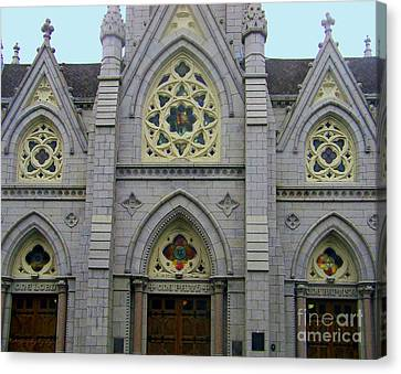 Canvas Print featuring the photograph Front Of Church by Gena Weiser