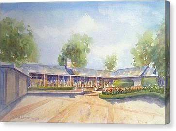 Front Of Home Canvas Print by Debbie Lewis