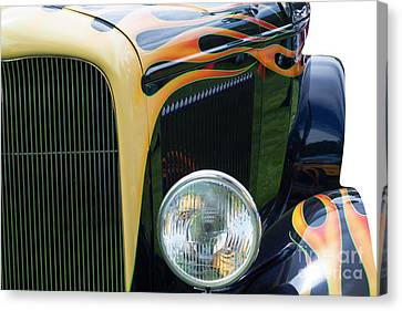 Canvas Print featuring the photograph Front Of Hot Rod Car by Gunter Nezhoda