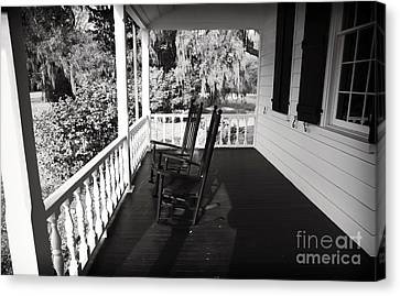 Front Porch Chairs Canvas Print by John Rizzuto
