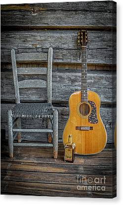 Front Porch Pick'n Canvas Print by Marion Johnson