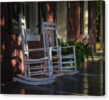 Front Porch Rockers Canvas Print by Steve Hurt