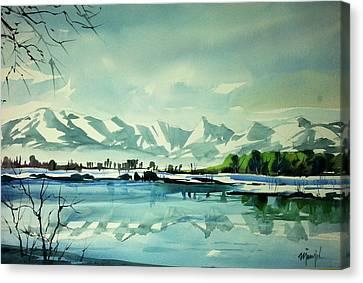 Front Range At Boulder Colorado Canvas Print