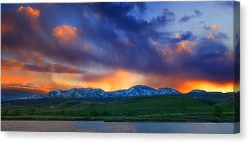 Front Range Light Show Canvas Print