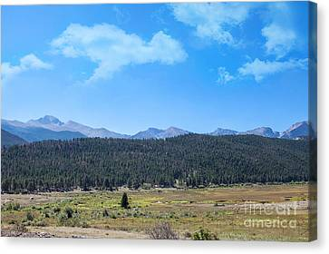 Front Range Rockies Canvas Print by Kay Pickens