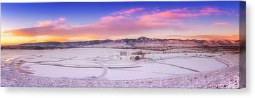Front Range Sunrise Canvas Print by Darren  White