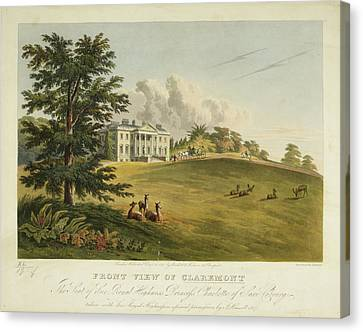Front View Of Claremont Canvas Print by British Library