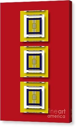 Canvas Print featuring the digital art Frontdoor by Darla Wood