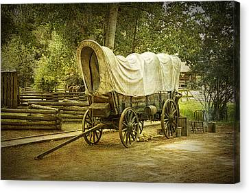 Frontier Covered Wagon Canvas Print by Randall Nyhof