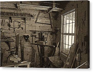 Frontier Woodshop Canvas Print