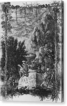 Frontispiece Illustration From Fables By Hippolyte De Thierry-faletans Canvas Print