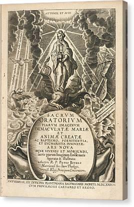 Frontispiece To 'sacrum Oratorium Piarum' Canvas Print