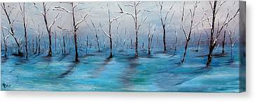 Frost Like Ashes Canvas Print by Meaghan Troup
