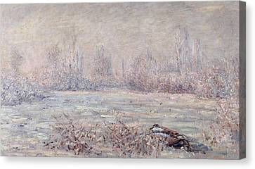 Frost Near Vetheuil Canvas Print