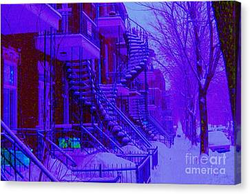 Frost On  Winding Staircases Canvas Print by Carole Spandau