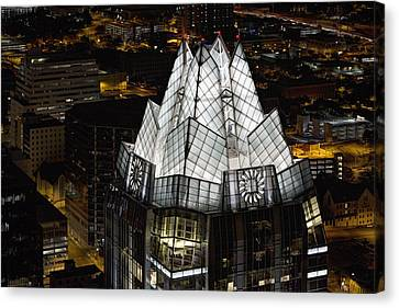 Frost Tower Canvas Print - The Austin Skyline And The Iconic Frost Tower by Rob Greebon