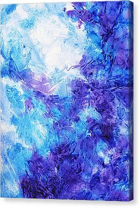 Enhancement Canvas Print - Frosted Blues Fantasy I by Irina Sztukowski