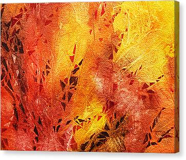 Frosted Fire IIi Canvas Print by Irina Sztukowski