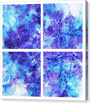 Frosted Window Abstract Collage Canvas Print by Irina Sztukowski