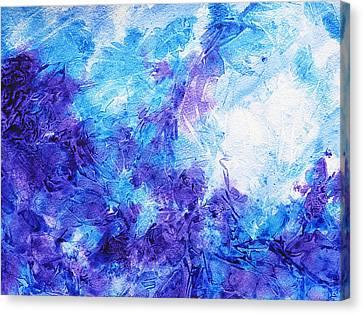 Frosted Window Abstract Iv Canvas Print by Irina Sztukowski