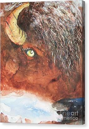 Frosty Bison Breath Canvas Print