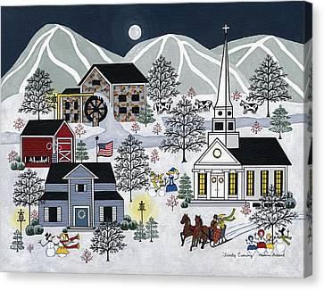 Frosty Evening Canvas Print by Medana Gabbard